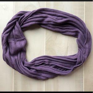 J.Crew Purple Ribbed Infinity Scarf - NWOT